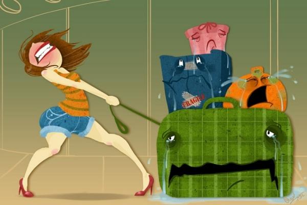 Preparer des bagages et vetements