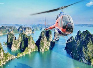Baie Ha Long en hélicoptère