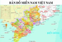 Carte Vietnam Sud